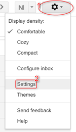 Settings Gmail